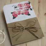 Rustic Roses Vintage Wedding Invitation