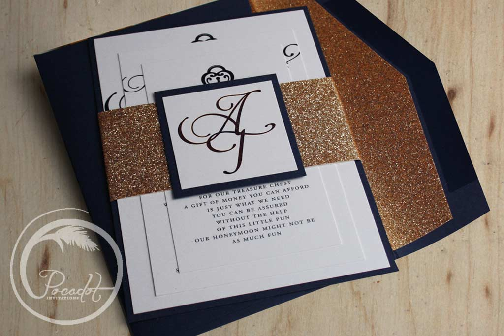 navy blue and gold wedding invitations - Ideal.vistalist.co